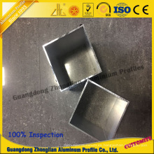 China Aluminium Manufacturs Supplies Stocked Aluminum Square Pipe